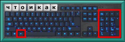 дополнительный блок клавиш